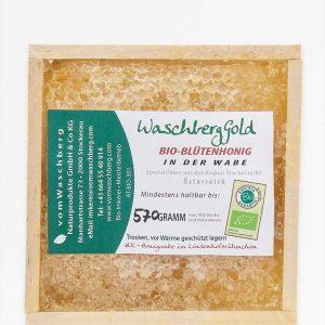 WaschbergGold Bio-Blütenhonig in der Wabe