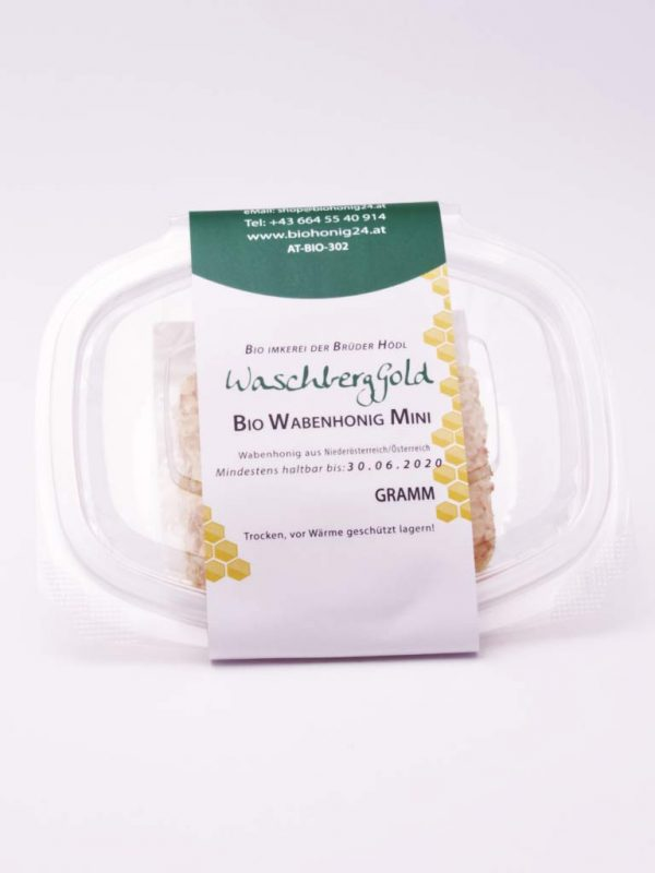 WaschbergGold Bio Wabenhonig Mini